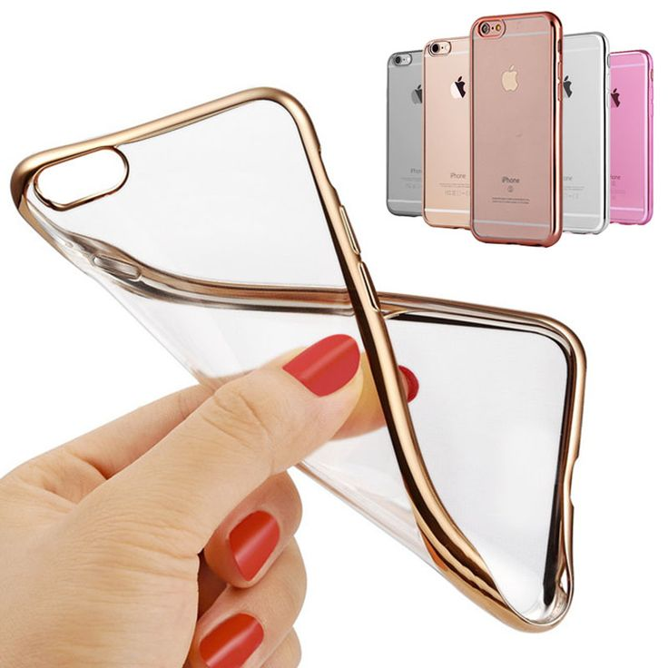 Case For iPhone 6 S 6S / 6 Plus 6S Plus Transparent Silicone Cover Glitter Luxury Gold Rose Coque Fundas i Phone 5.5 inch