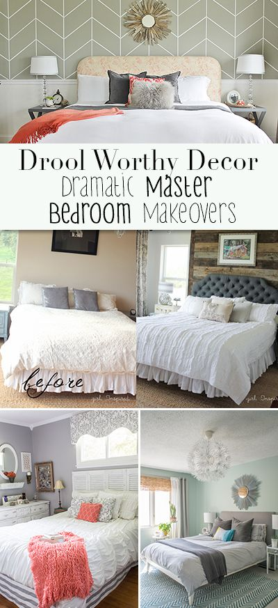 Drool Worthy Decor : Dramatic Master Bedroom Makeovers • Tours of amazing bloggers master bedrooms!