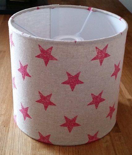 Drum Lampshade - Stars Print Fabric