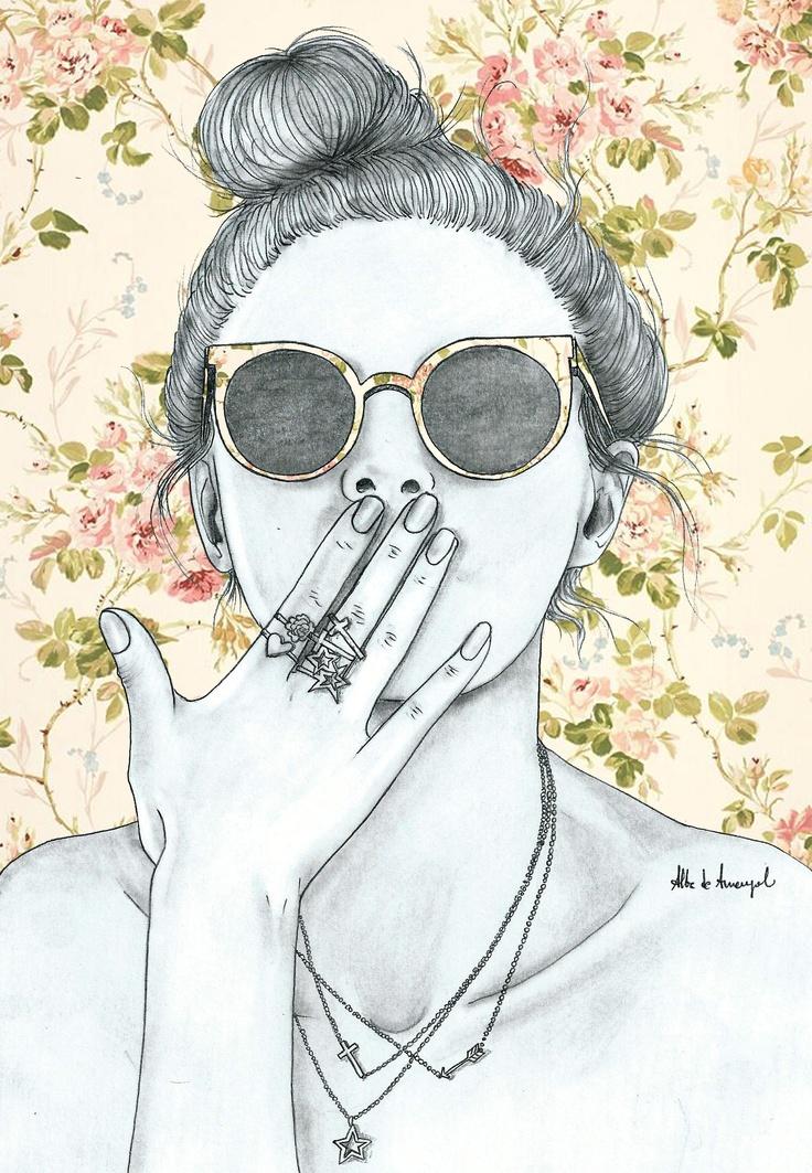 alba de armengol fashion girl illustration                                                                                                                                                      Mais