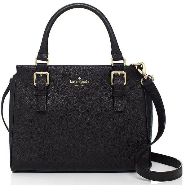 Kate Spade Cobble Hill Noelle ($328) ❤ liked on Polyvore featuring bags, handbags, satchels, weekend bag, real leather handbags, leather weekender, genuine leather purse and kate spade satchel
