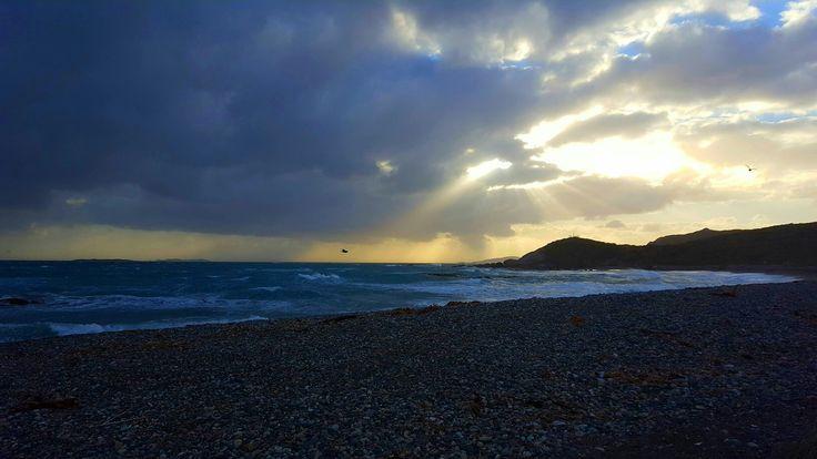 Riverton Beach Southland New Zealand.