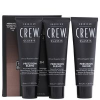 American Crew Precision Blend Mens Hair Dye 4/5 Hair dye that blends grey away with a system thats fast, convenient and crafted specially for men. Lasts up to 24 washes, with only a 5 minute development time. Allergy test must be performed before a http://www.MightGet.com/january-2017-13/american-crew-precision-blend-mens-hair-dye-4-5.asp