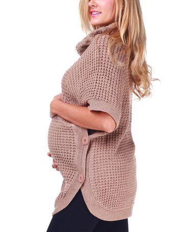 Mocha Knit Maternity Sweater by PinkBlush Maternity on #zulily