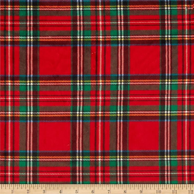 Minky classic plaid red colors throw pillows and for Tartan wallpaper next
