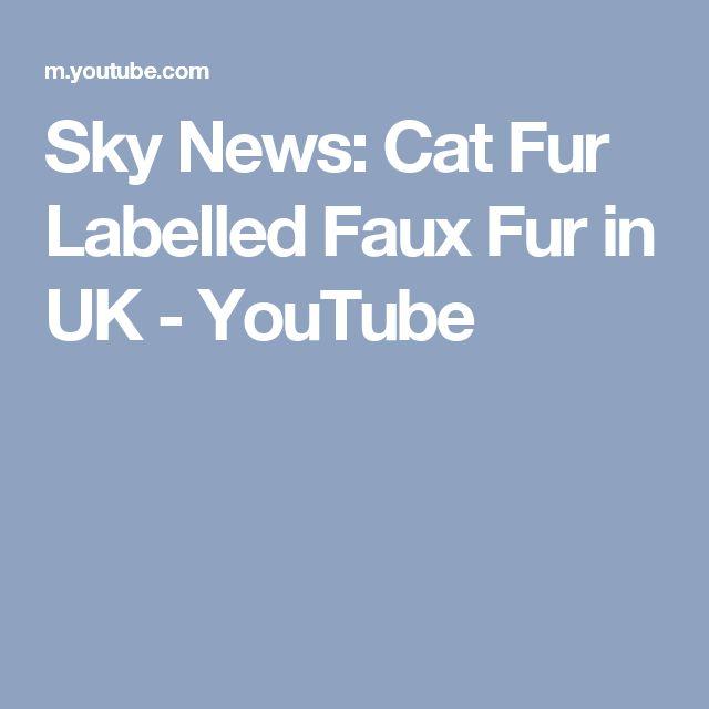 Sky News: Cat Fur Labelled Faux Fur in UK - YouTube