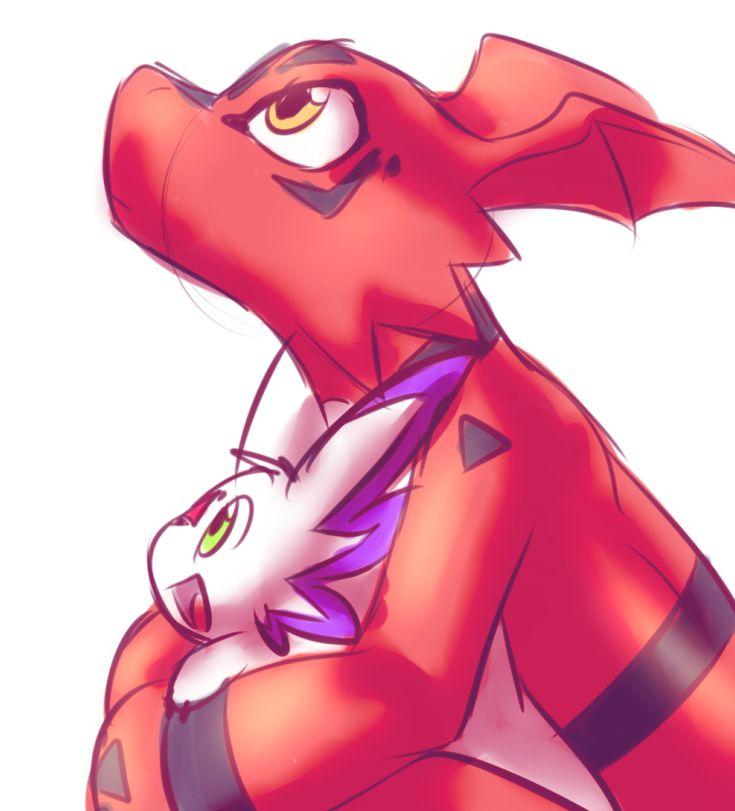 Calumon & Guilmon | Digimon Tamers