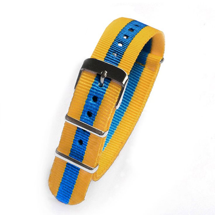 >> Click to Buy << Retail 18mm yellow blue yellow Sport nato fabric watch band straps accessories Bands nylon watchband steel Buckle belt  #Affiliate
