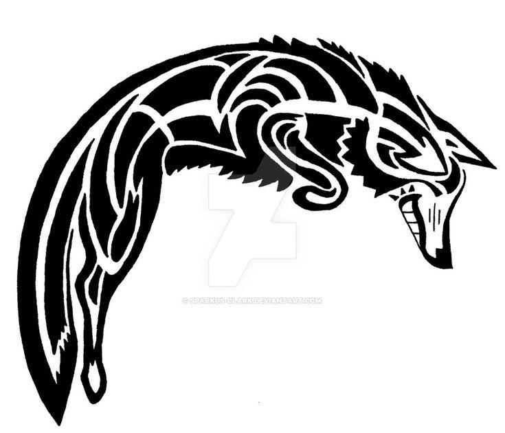 Spirit Coyote Tattoo Design by Sparkus-Clark