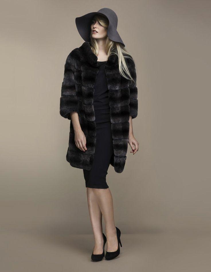 Tummanharmaa turkki, Ajattaren omaa mallistoa, http://www.ajatar.fi/ #ajatar #fur #furcoat