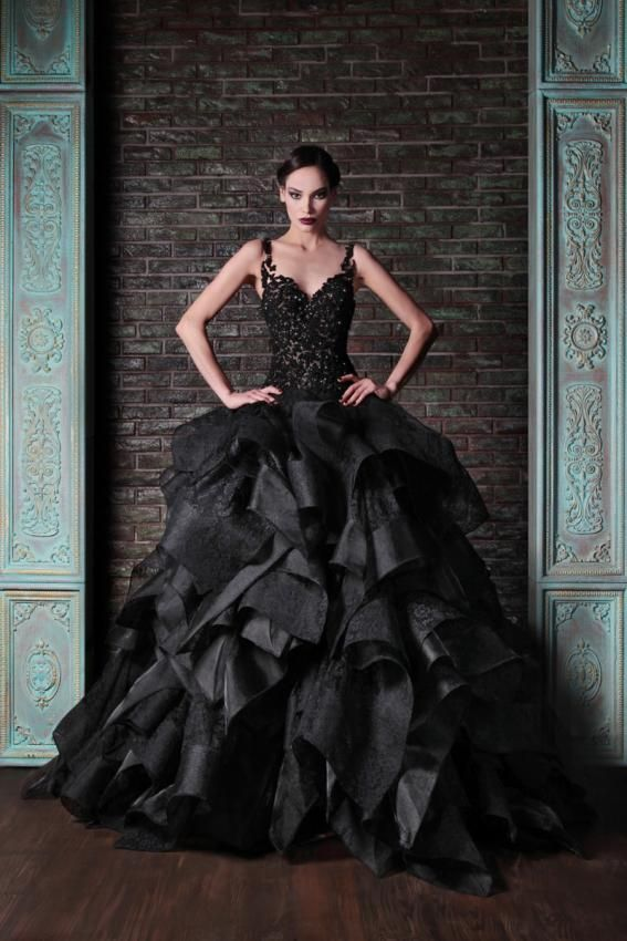 Dior Black Ball Gowns