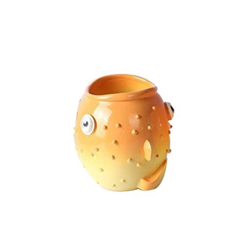 Bathroom Scale Décor | Leop Mediterranean Style Cute Decorative Fish One Piece Bathroom Accessory Set Tumbler Mug Cup Resin -- Read more reviews of the product by visiting the link on the image. Note:It is Affiliate Link to Amazon.
