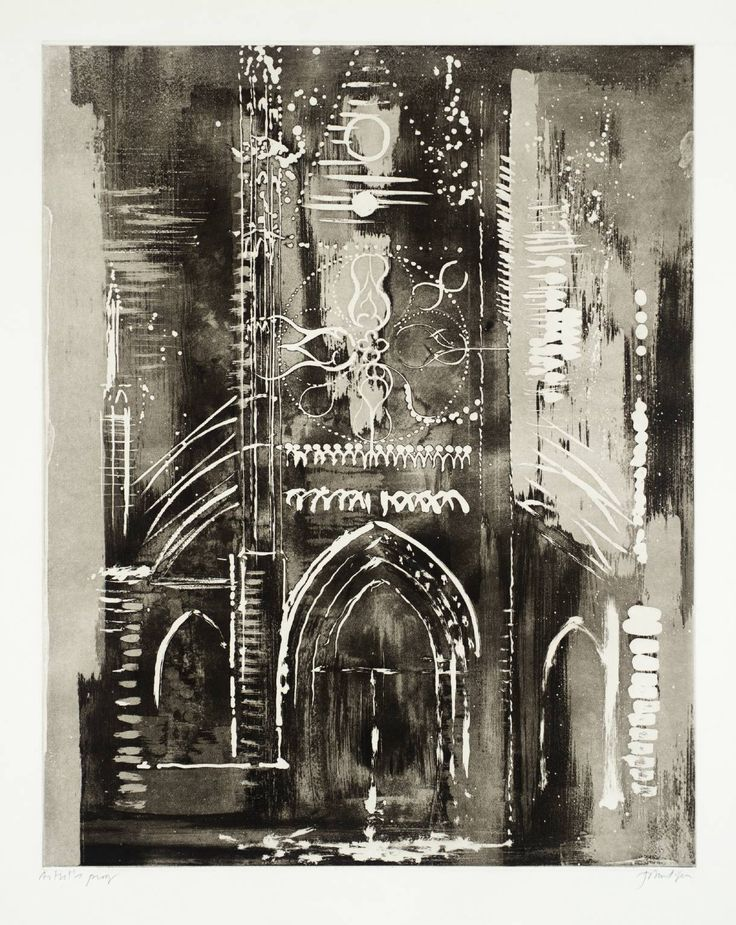 John Piper, Eglise de Vernon, Normandy