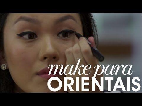 Make para orientais: esfumado e delineador para olhos pequenos - Entre Topetes e Vinis
