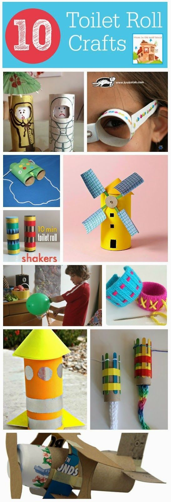 A Thrifty Mum: 10 Cardboard roll crafts including a rocket that flies and many more (loo rolls, cardboard tube or toilet rolls)