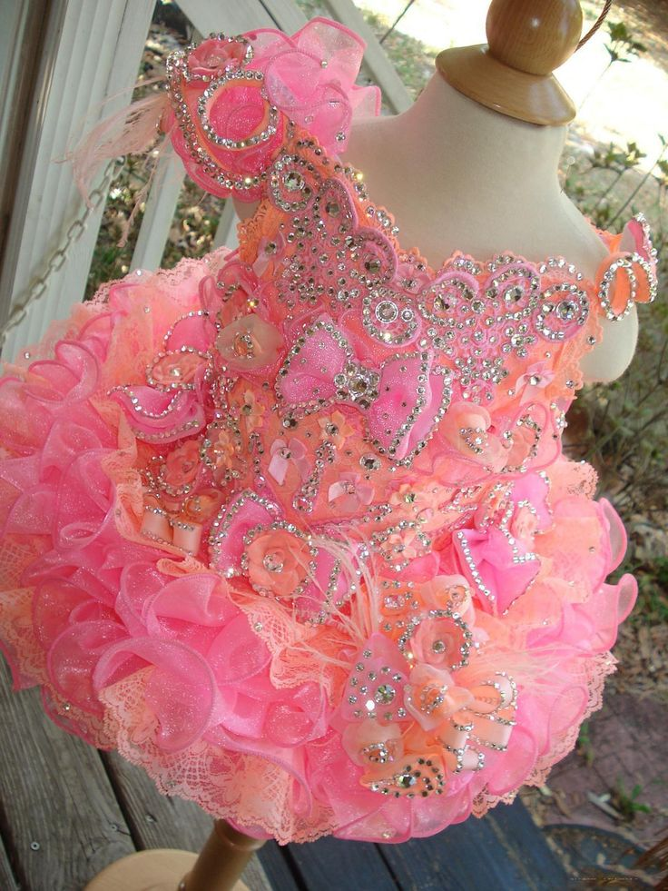 Little Girls Pageant Dresses 2016 Rhinestones Beaded Handmade Flowers Toddler Glitz Mini Cupcake Gorgeous Flower Girl Dresses Lovely Designer Flower Girl Dresses Easter Dresses For Toddlers From Toprated, $75.66| Dhgate.Com