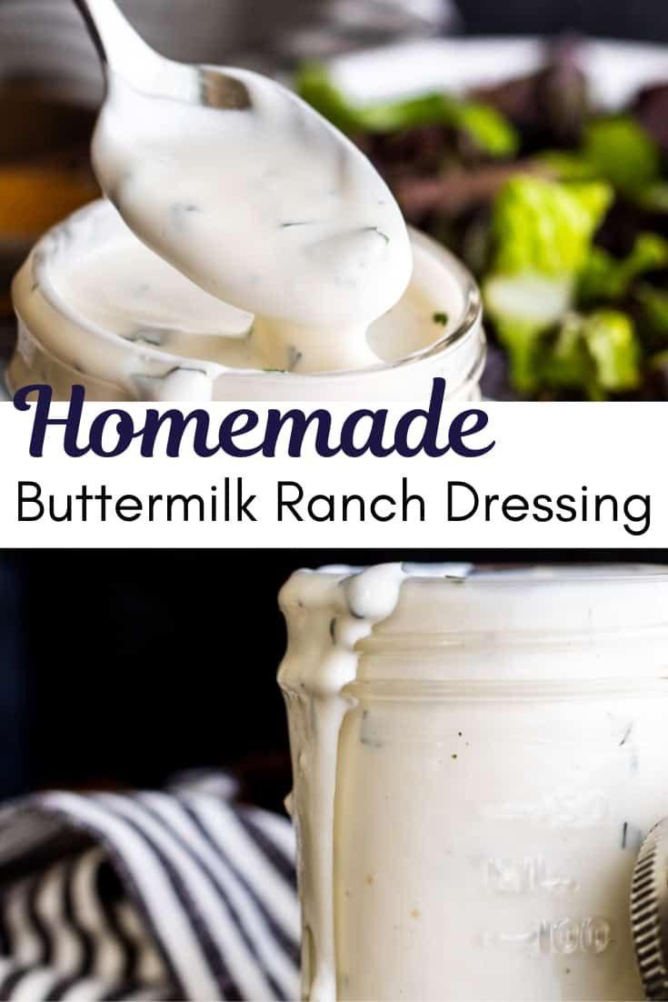 Homemade Buttermilk Ranch Dressing Recipe Recipe Homemade Ranch Dressing Buttermilk Homemade Buttermilk Ranch Dressing Recipe Homemade Buttermilk