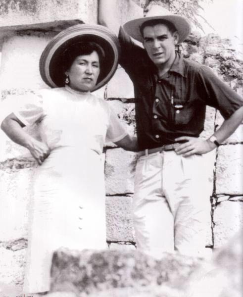 Con Hilda Gadea Su Esposa Peruana Ernesto Che Guevara Ernesto