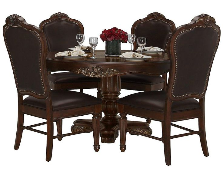 this dining table set evokes the grandeur of a time gone by regal round table
