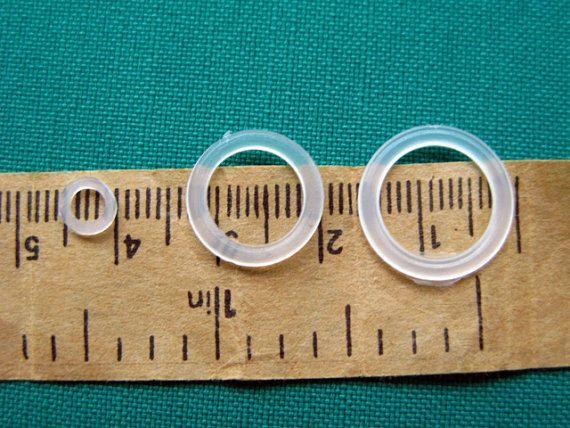 100 unidades. Anillos plásticos  anillos de 16mm Meterial