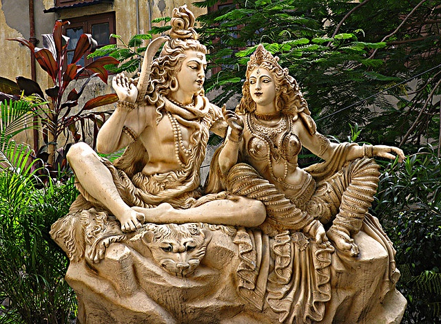 Lord Shiva & Parvati(Devi Durga) by Neo_26_regularly irregular, via Flickr. In the Hindu pantheon the great mother goddess Adishakti is the heavenly wife of Shiva, Lord of All Gods. Whenever Shiva or Adishakti come to Earth in human form, they are fated to marry each other again--but that's no guarantee that all will go smoothly with their courtship.