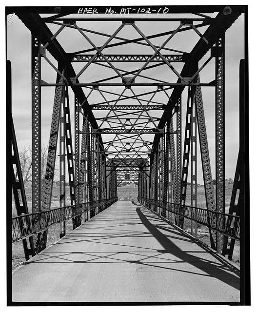 Bundy Bridge, Spanning Yellowstone River at Bundy Road, Pompeys Pillar, Yellowstone County, MT