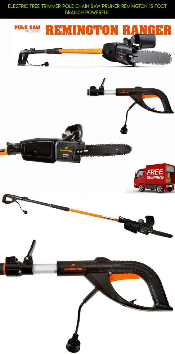 Electric Tree Trimmer Pole Chain Saw Pruner Remington 15 Foot Branch Powerful #gadgets #tree #products #racing #parts #technology #plans #trimmers #tech #pruners #shopping #kit #drone #camera #fpv