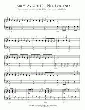 Není nutno (Vadí, nevadí) | Noty pro klavír a akordeon