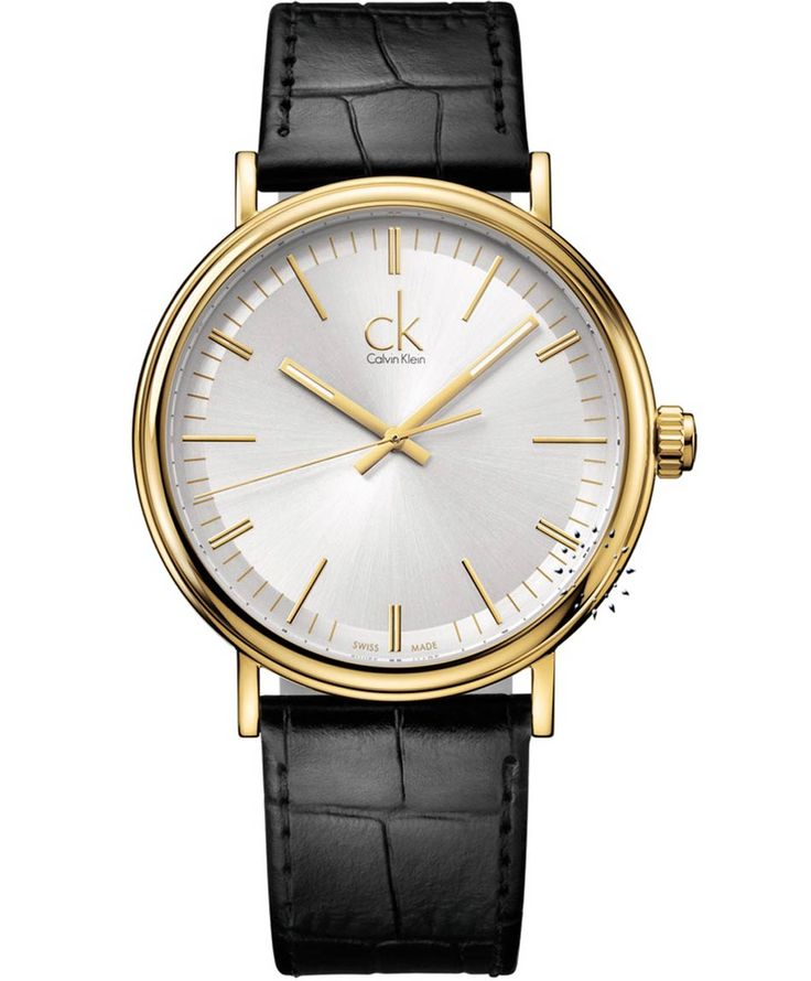 CALVIN KLEIN Surround Black Leather Strap  Τιμή: 287€  http://www.oroloi.gr/product_info.php?products_id=30870