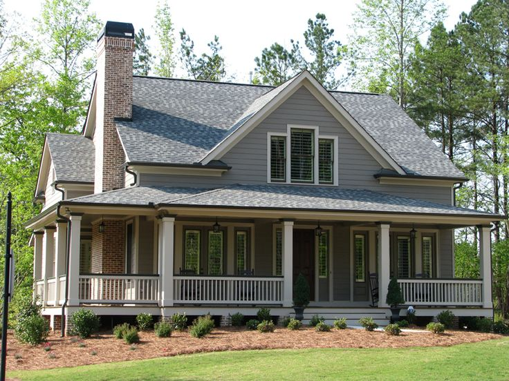 The 25 best acadian style homes ideas on pinterest for Mountain house plans with wrap around porch
