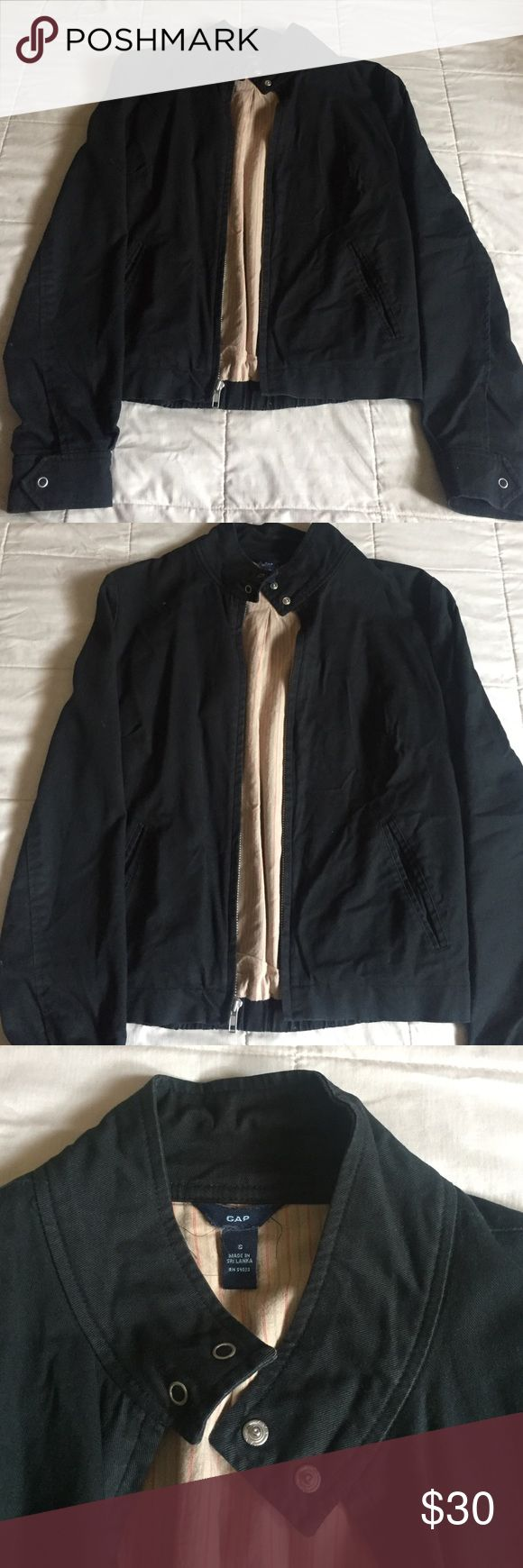 Gap jacket In good condition. Not sure if it's a men's jacket but I wear it and it doesn't look like it. No rips or stains, feel free to make an offer 😁 GAP Jackets & Coats Bomber & Varsity