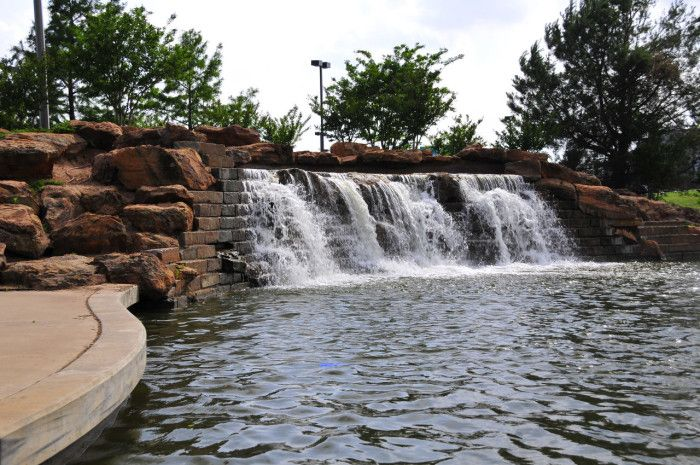 1. You'll start your trip out from Bricktown Falls in Oklahoma City. Although man-made, the falls are beautiful. Make sure your camera is ready for the…
