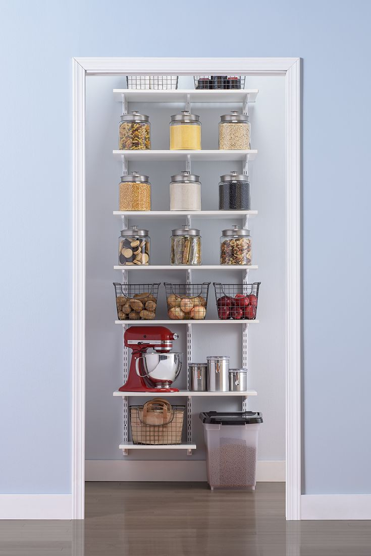 219 best kitchen organization images on pinterest for Best pantry shelving system