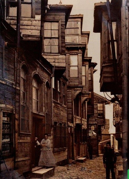 a street in Istanbul. Historical view..