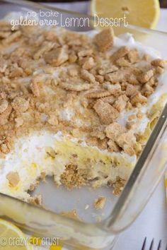 Μπισκοτογλυκό ψυγείου με κρέμα λεμονιού
