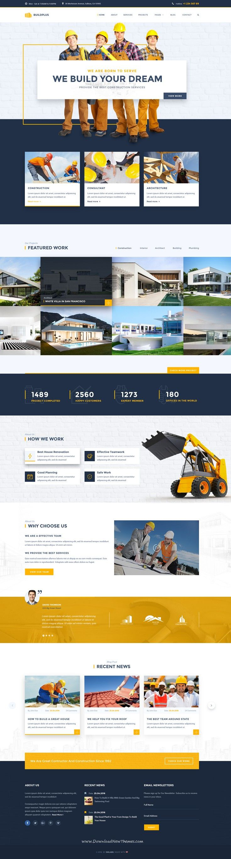 BuildPlus – Building & Construction Business PSD #Template. It includes 17…