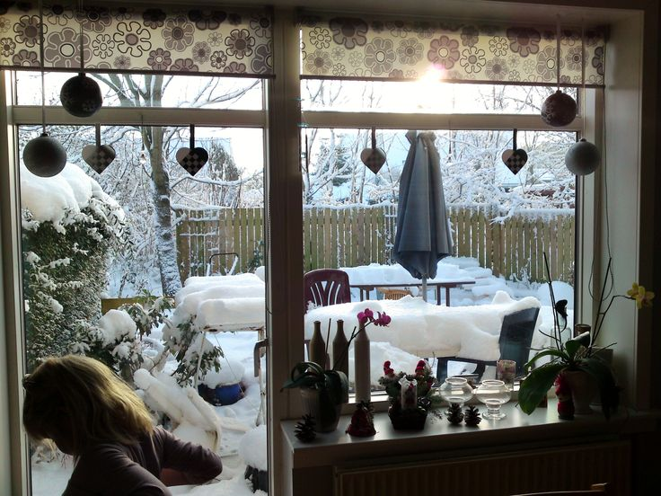 We lived in a place called Eriksholmparken from 2002 and until 2012. This picture is from the livingroom. Outside the windows is our garden. Christmas 2009