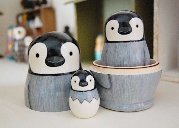 Penguin Nesting Dolls[No.2]
