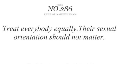 The rules of a Gentleman NO.286