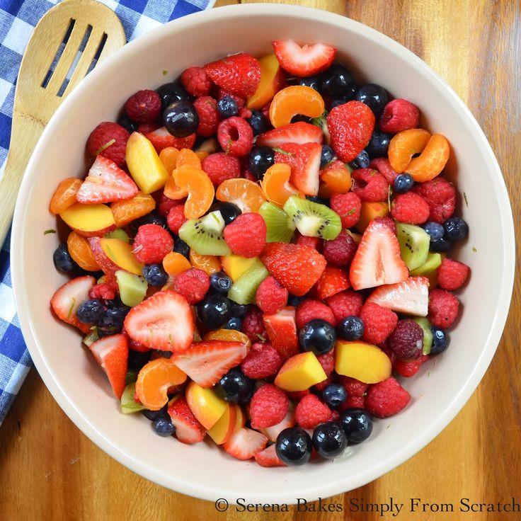 Summer Berry Fruit Salad With Honey Lime Glaze.