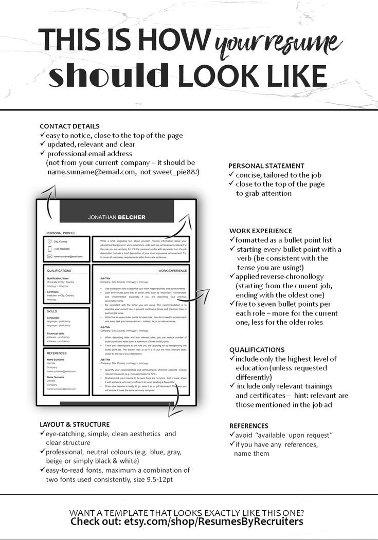 Minimalist Cv Resume Template Instant Download One And Two Page