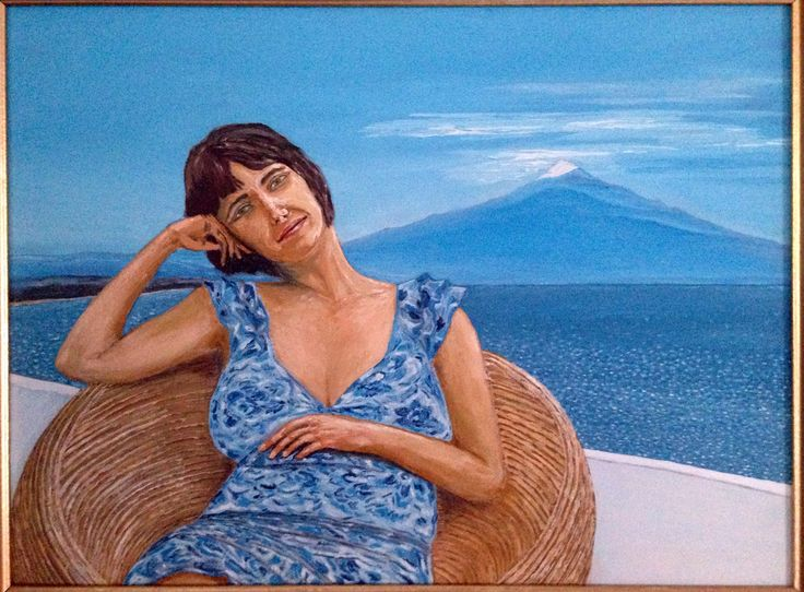 Nice view on Etna. Oil on canvas board 40x30sm.