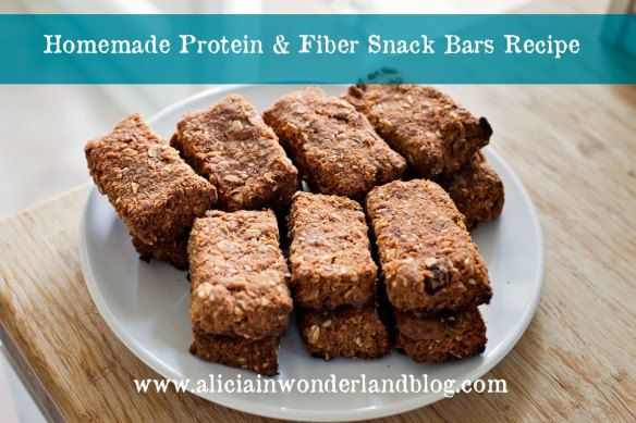 Homemade Protein & Fiber Snack Bars with Juicing Leftovers - Alicia in Wonderland Blog