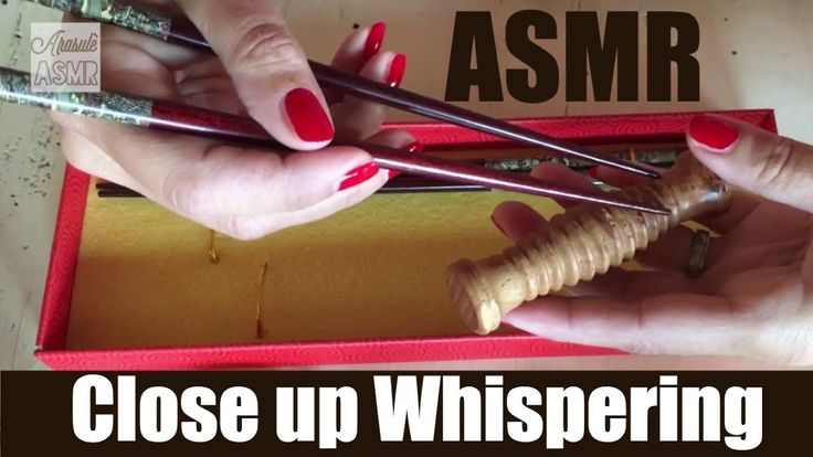 ASMR ITA Trigger: BACCHETTE CINESI Whispering e Suoni  Red Nails