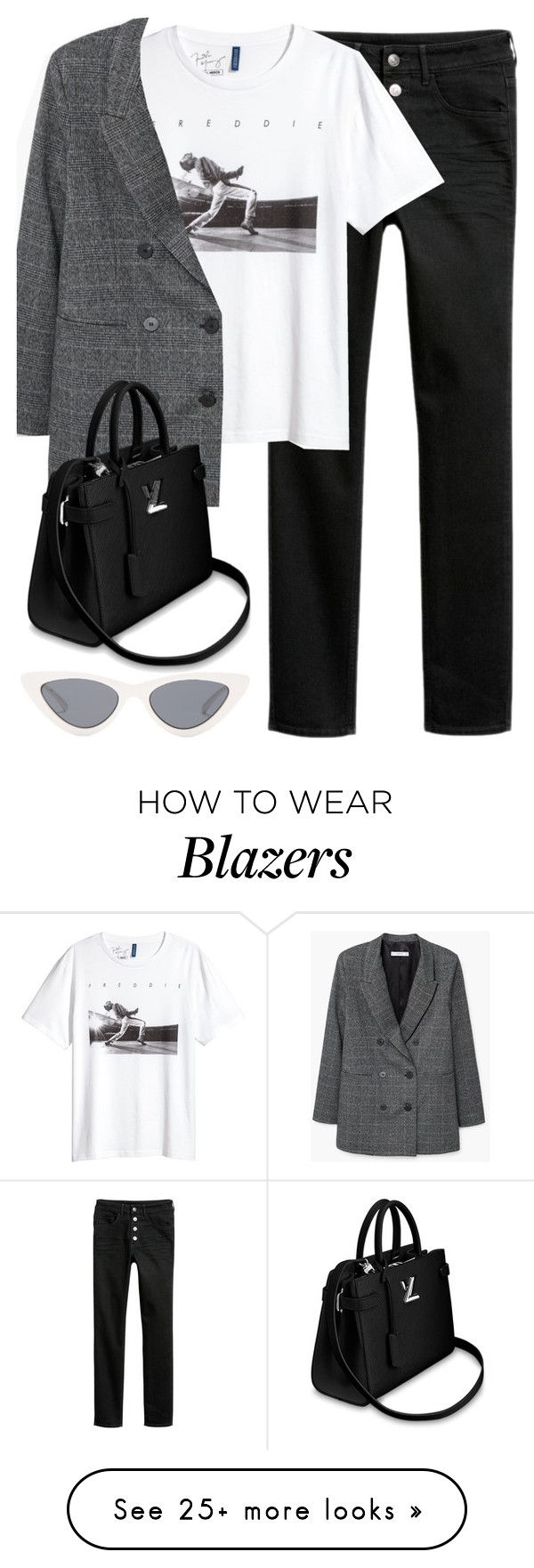 """""""Untitled #3318"""" by elenaday on Polyvore featuring H&M, MANGO and Le Specs"""