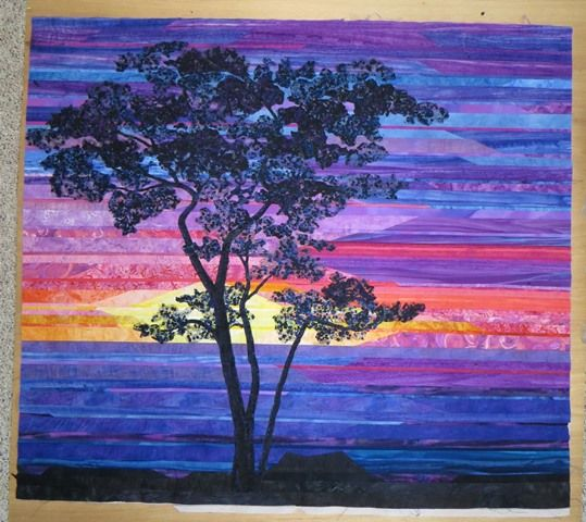 Yay me - I finally got some work done on the tree part of my sunset quilt! I'll show you all the steps I took to make it in this blog entr...