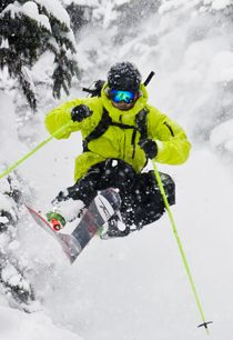 powder shots....love me some powder skiing!!