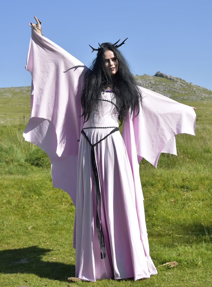 Pink Lily Munster Deluxe Gown - cotton lycra Munsters cosplay costume by  Moonmaiden Gothic Clothing UK