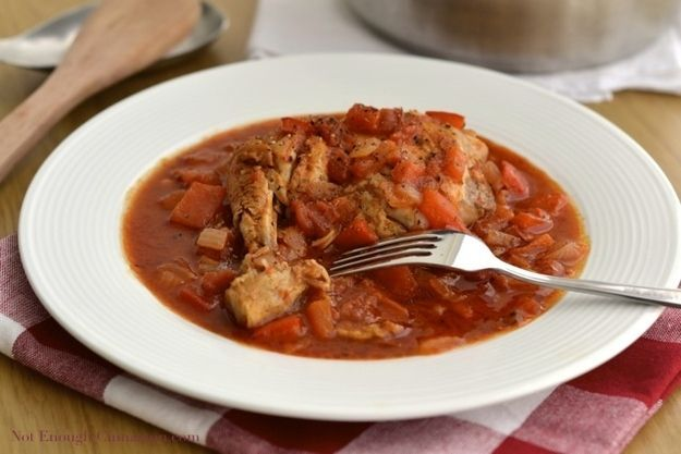 Poulet Basquaise. Chicken, pepper, and tomato stew from French Basque country. Favourite of Julia Child.