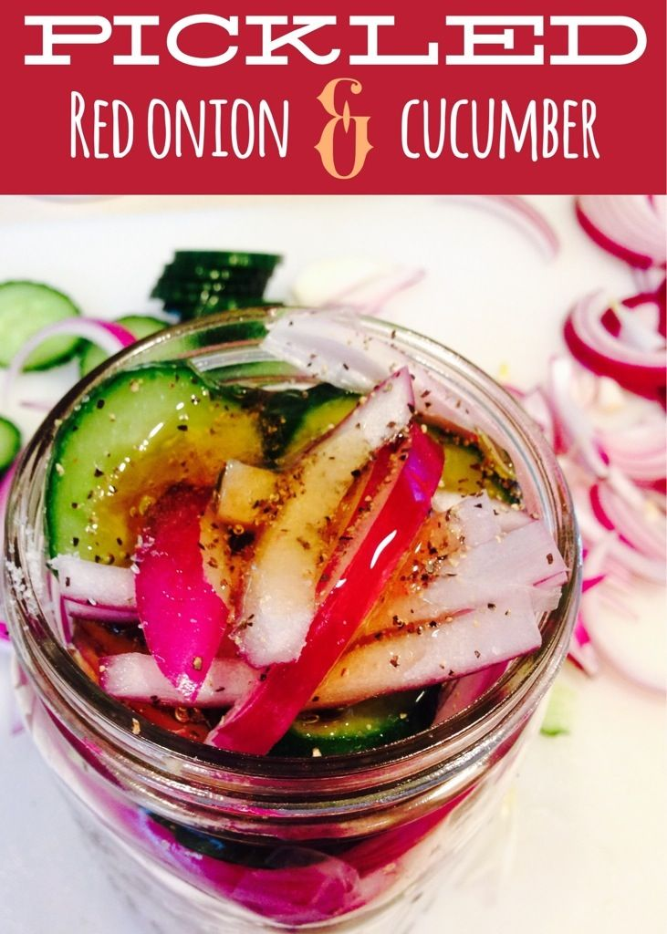 Pickled Red Onions & Cucumber